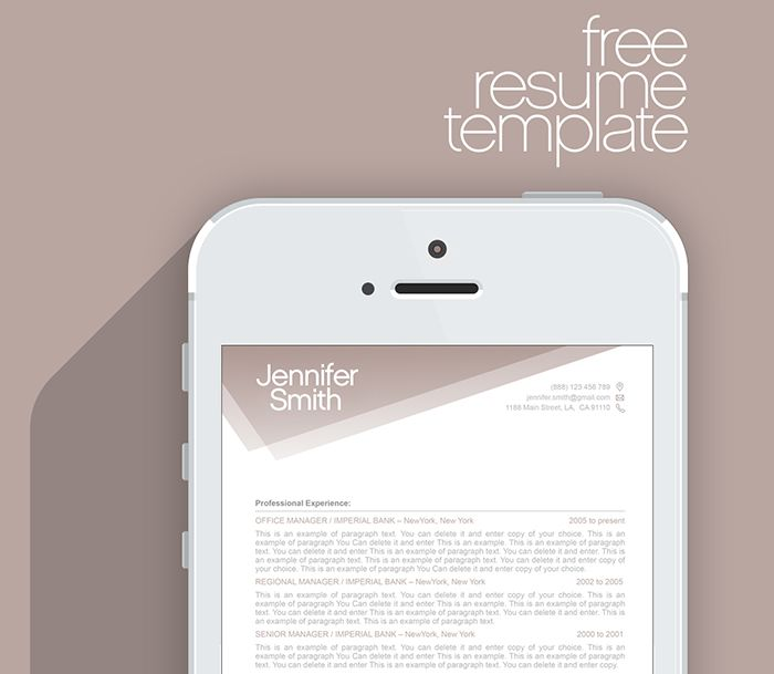 FREE Resume Template - Premium line of Resume \ Cover Letter - Free Ms Word Resume Templates