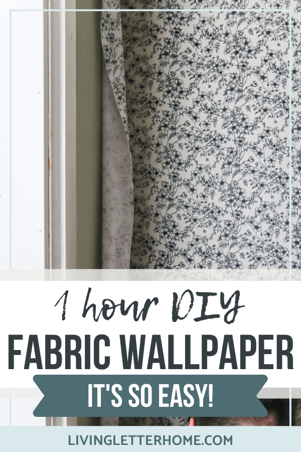 Diy Fabric Wallpaper That S Also Removable Living Letter Home