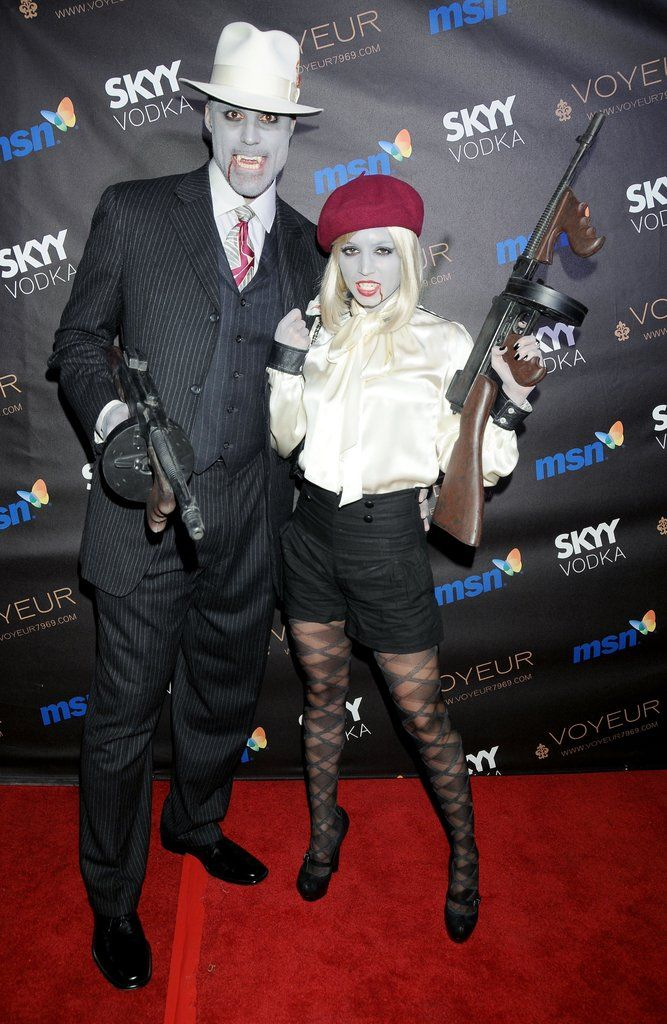 Celebrity Couples Halloween Costumes | POPSUGAR Celebrity Photo 1  sc 1 st  Pinterest & Rick Fox and Eliza Dushku as Mobsters | Rick fox Halloween costumes ...