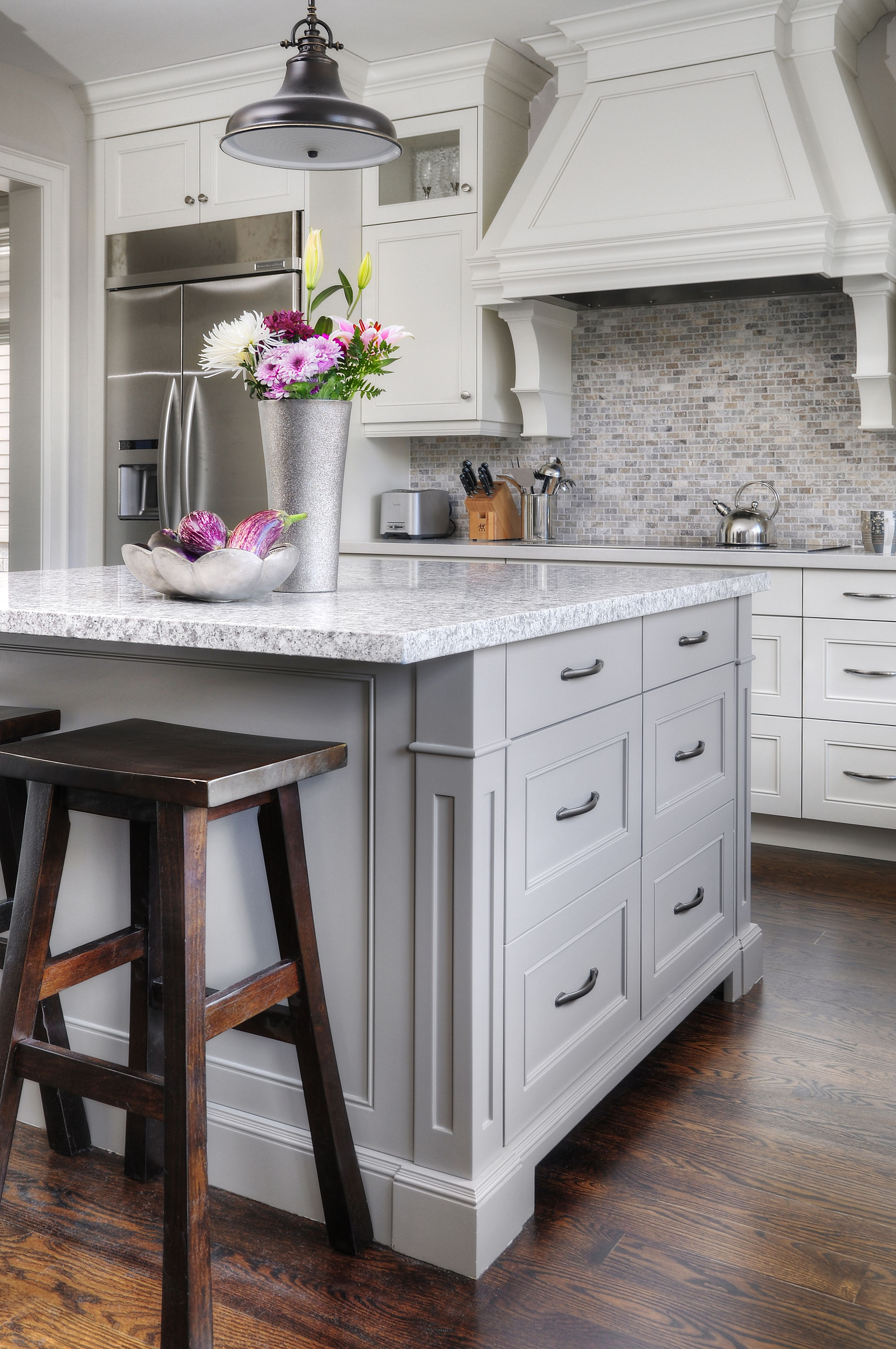Casual Oakville Kitchen Grey Kitchen Designs Grey Kitchen Island Kitchen Design