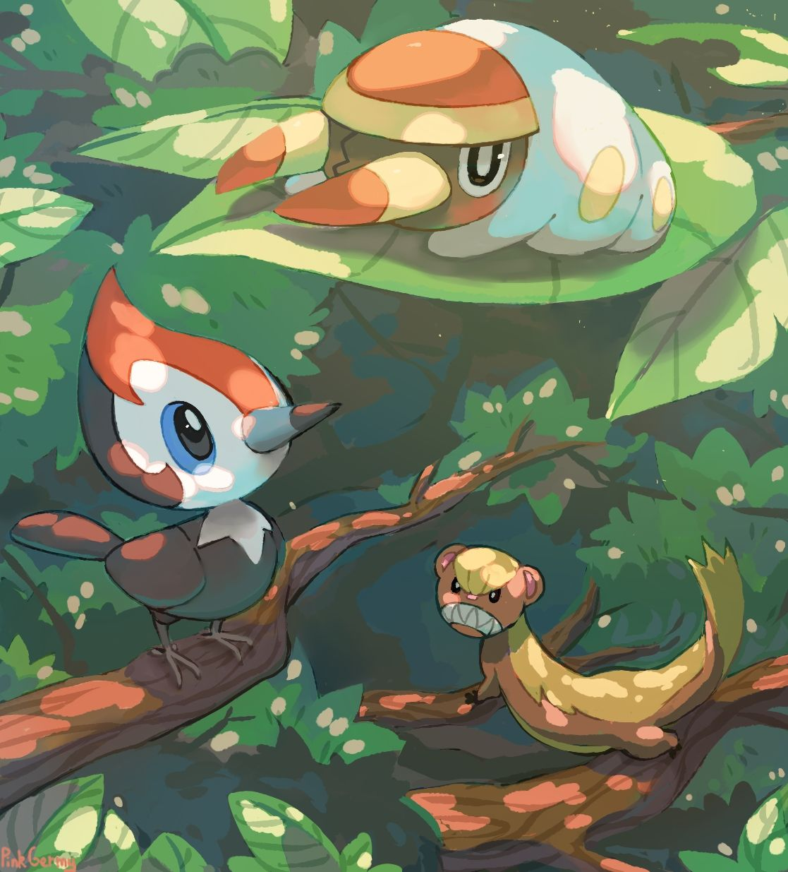 Grubbin Pikipek And Yungoose By Pinkgermy Teh Pokemanz Pokémon
