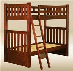 Charlton Dark Pecan Mission Twin Bunk Bed