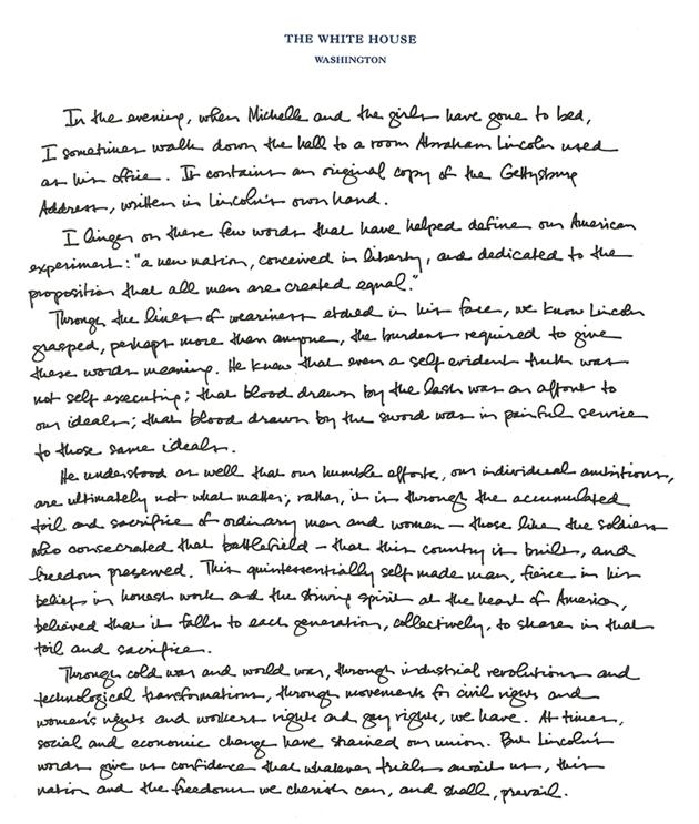 Extended Essay Topics English Obama Pens Essay On Gettysburg Address Health And Wellness Essay also Essay On Healthy Living Obama Pens Essay On Gettysburg Address  Gettysburg Address Apa Format Sample Paper Essay