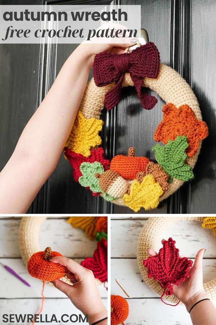 Photo of Morning of the autumn crochet wreath • Sewrella