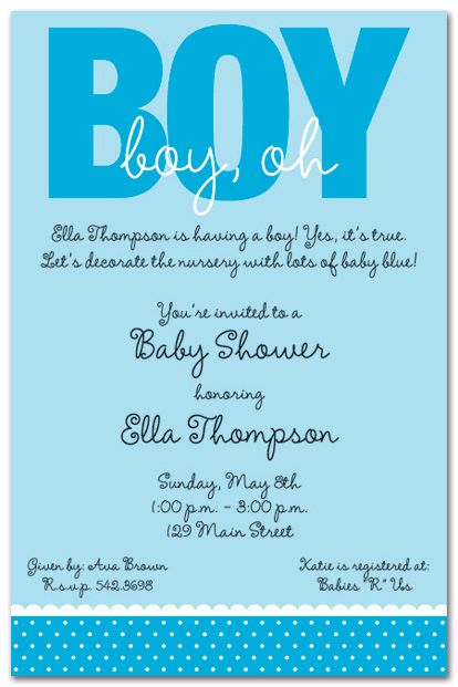 Image detail for -Kids Birthday Invitations Girls Boys Boys - how to word baby shower invitations