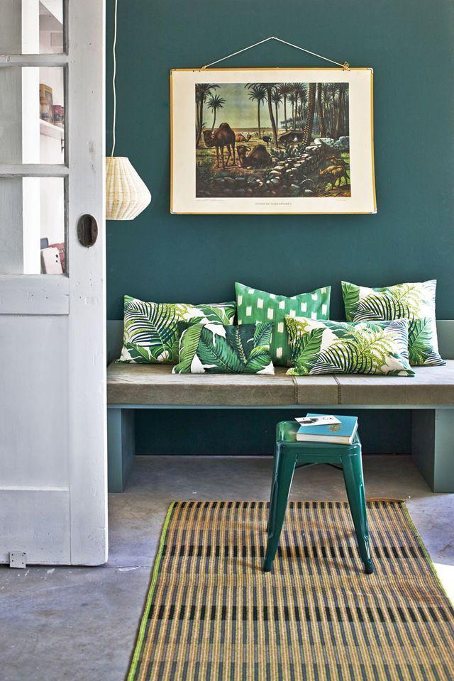 Déco salon pour l\u0027été Jungle, Peinture couleur et Côté maison