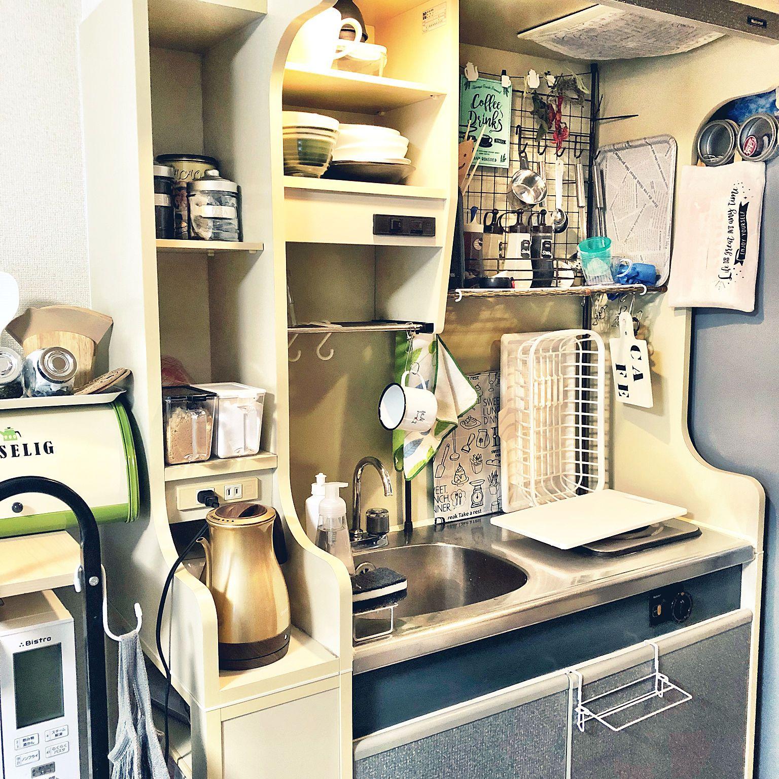 キッチン やっと皆さんのお部屋にお邪魔できそうです 新生活 鉄筋賃貸