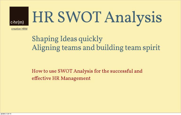 Hr Swot Analysis Swot Analysis Hr Management Analysis