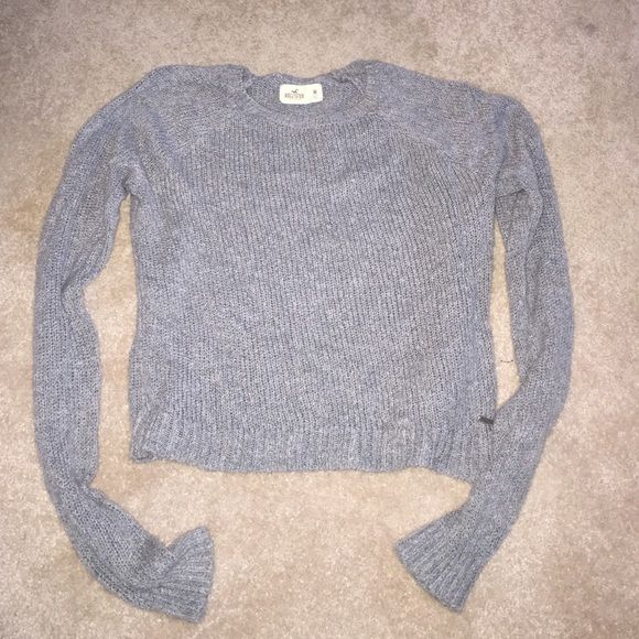 Hollister Sweater Gray sweater Hollister Sweaters Crew & Scoop Necks
