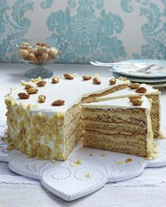 Photo of Butter cream cake with roasted almonds recipe DELICIOUS