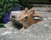Gray mouse friend, needle felted animal. $24.00, via Etsy.