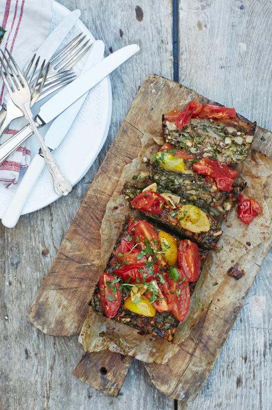 Kale and Roast Tomato Nut Roast – Honestly Healthy Food