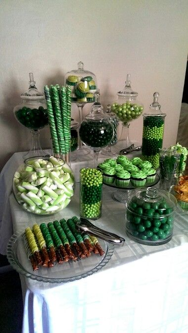My Quot Shades Of Green Quot Candy Buffet Hulk Birthday