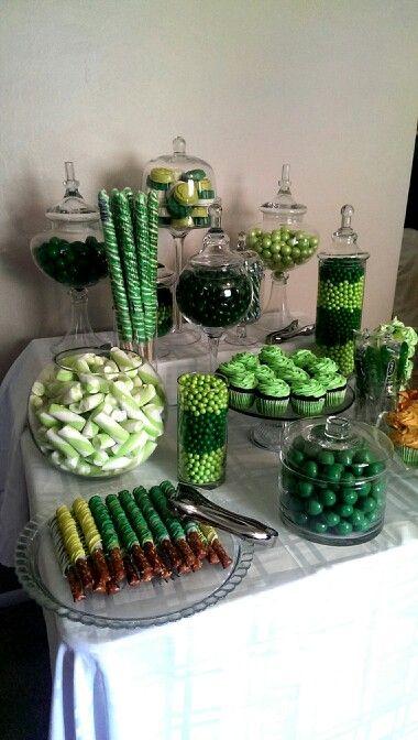 Southern blue celebrations green candy dessert bars