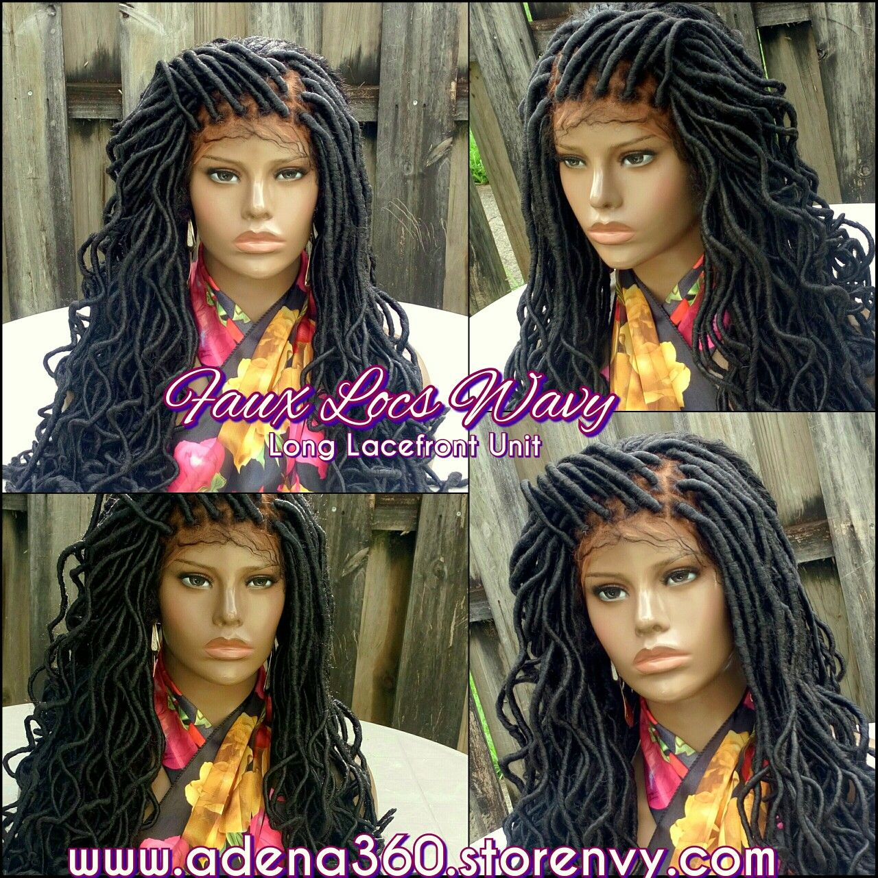 Long Wavy Faux Locs Lacefront Wig Click Link For Ordering Info