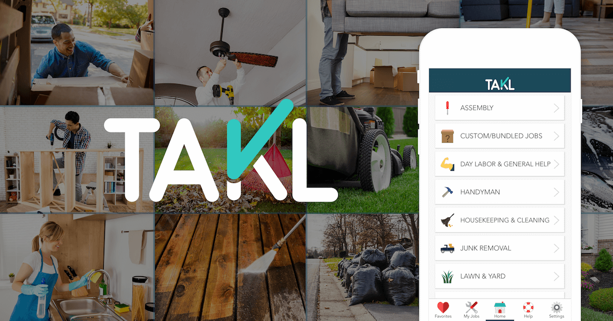 Takl is the easiest way to find same-day help with home