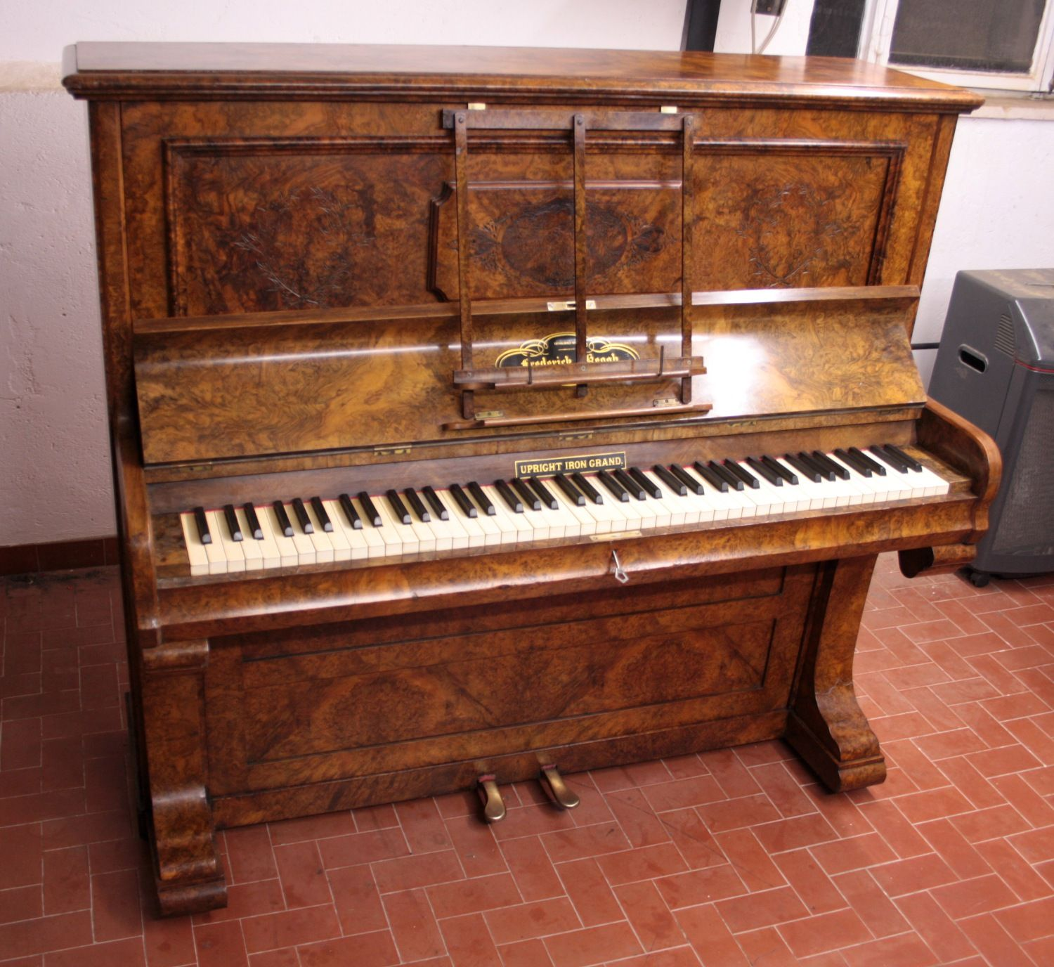 Arredare Con Pianoforte Verticale Upright Piano Frederick Reogh 1870 London Ger Subject Upright