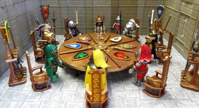 King arthur his knights of the round table emma j for Table playmobil
