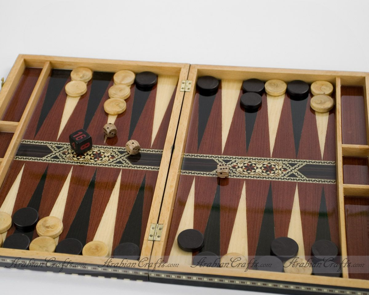 large-wood-backgammon-set
