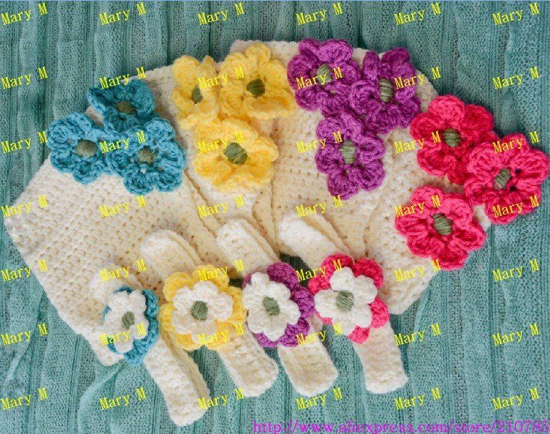 free shipping 50sets/lots baby crochet Flowers Headband and handmade Diaper Cover sets cover baby photograph use(China (Mainland))