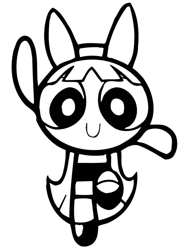 Powerpuff Girls Blossom Dancing Coloring Page Powerpuff Girls