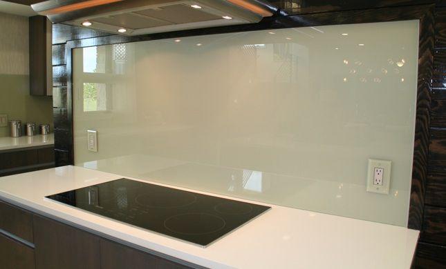 backpainted glass backsplash Google Search Kitchen Backsplash