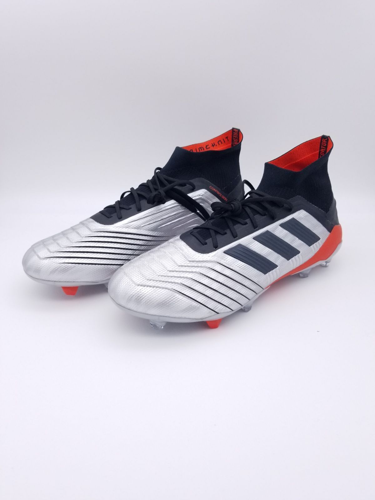 New Adidas Predator 19.1 Silver Black and Red Men's Soccer