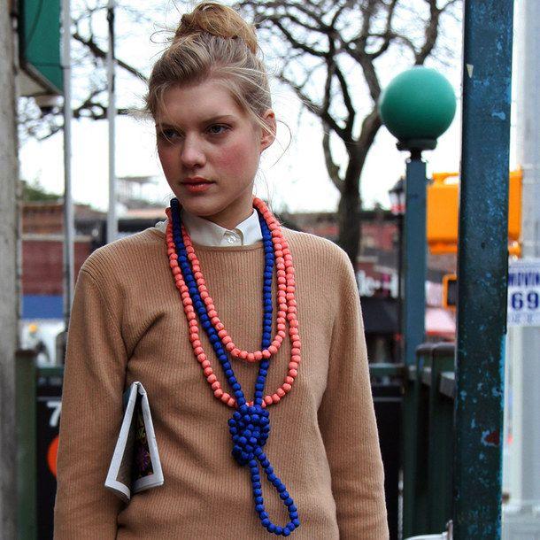 (54) Fab.com | Silk Rope Necklace Jade Mist