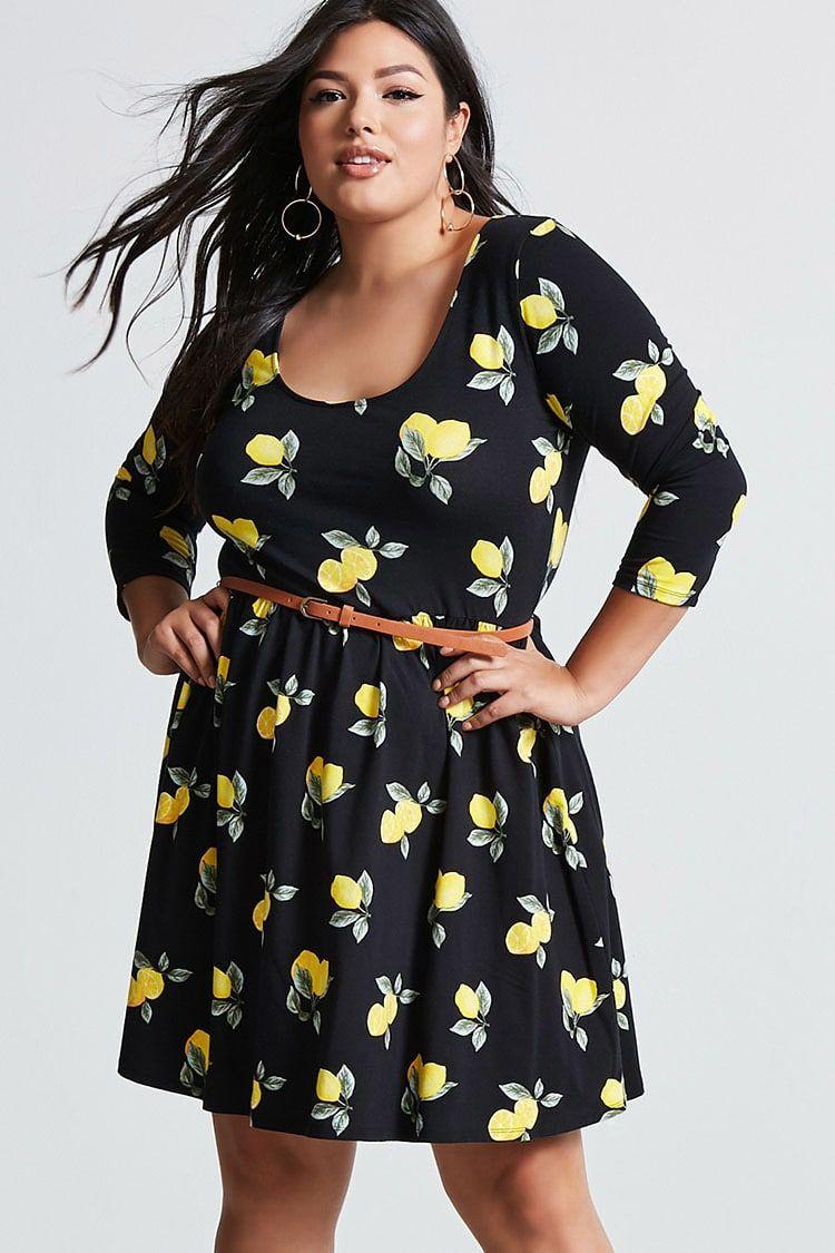 78e6244a91 Product Name Plus Size Lemon Mini Dress