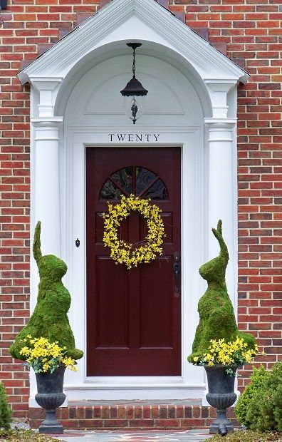 Moss Bunnies to greet your visitors. Something a little different ...