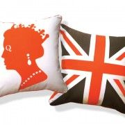 LIVE LIKE A QUEEN PILLOW orange brown
