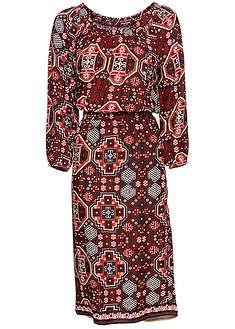 01feb910c717 Prekrásne šaty s elastickou vsadkou v páse a skvelou potlačou. Dĺžka vo  veľ. 38