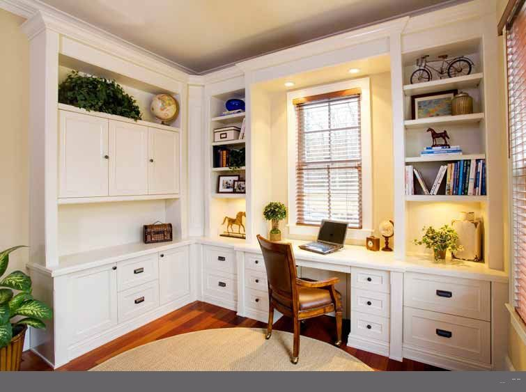 custom home office desk cabinetry - Custom Home Office Designs