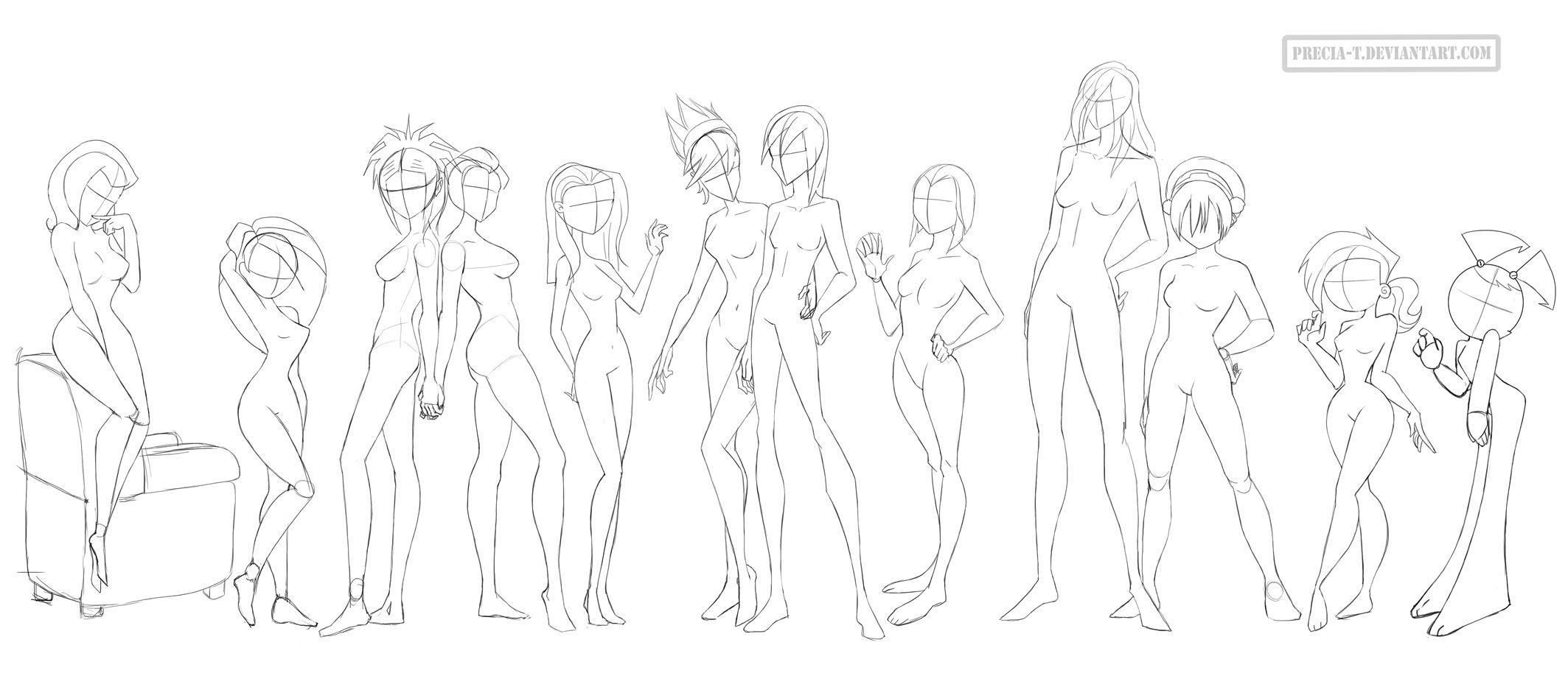 Female anatomy (cartoonish) by Precia-T.deviantart.com on ...