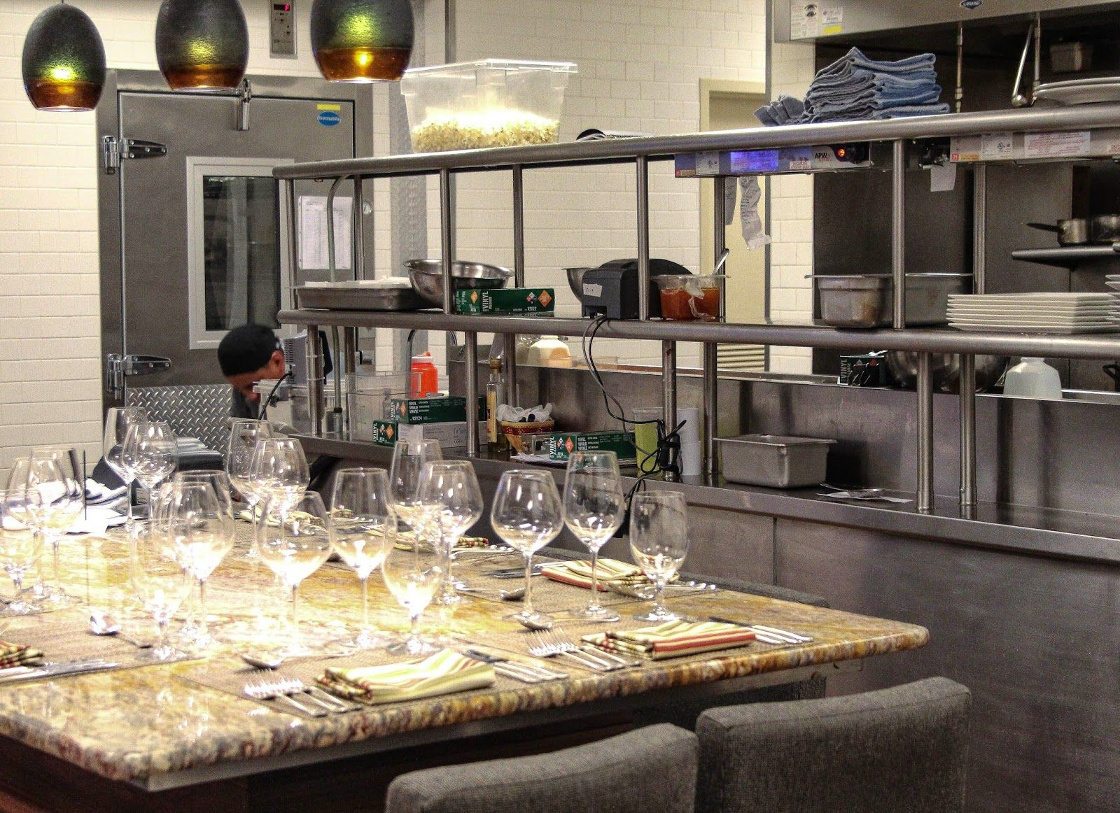 Image result for chef's table in restaurant kitchen