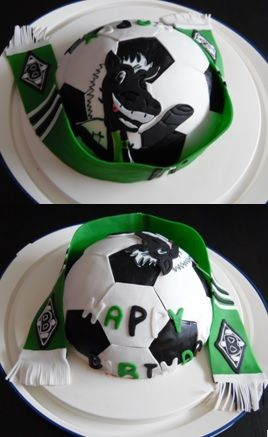 Borussia Monchengladbach Geburtstags Kuchen Backen Pinterest