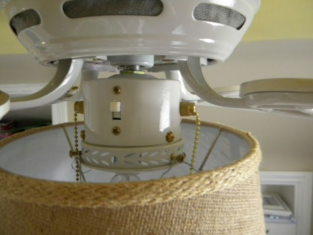Tutorial To Replace A Single Globe On A Ceiling Fan With A Drum Shade From Fingerprints On The F Ceiling Fan Diy Ceiling Fan Light Cover Ceiling Fan With Light