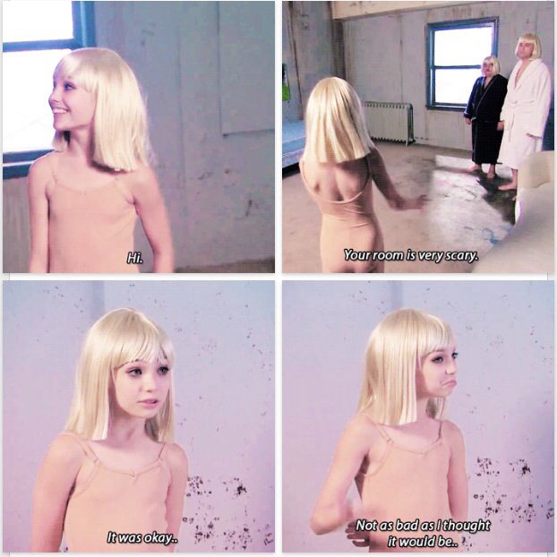 Maddie Ziegler behind the scenes of Sia\'s music video \