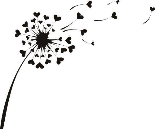 Pisenlit en noir et blanc recherche google dessin - Dessin fleur pissenlit ...