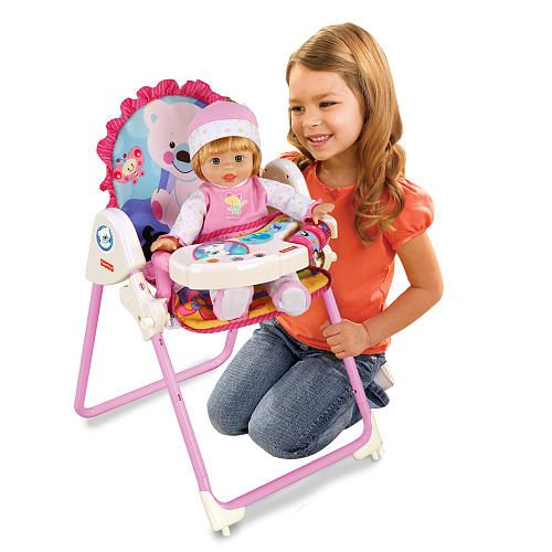 Baby Doll High Chair Toys R Us Folding With Canopy Fisher Price Precious Planet Tolly Tots