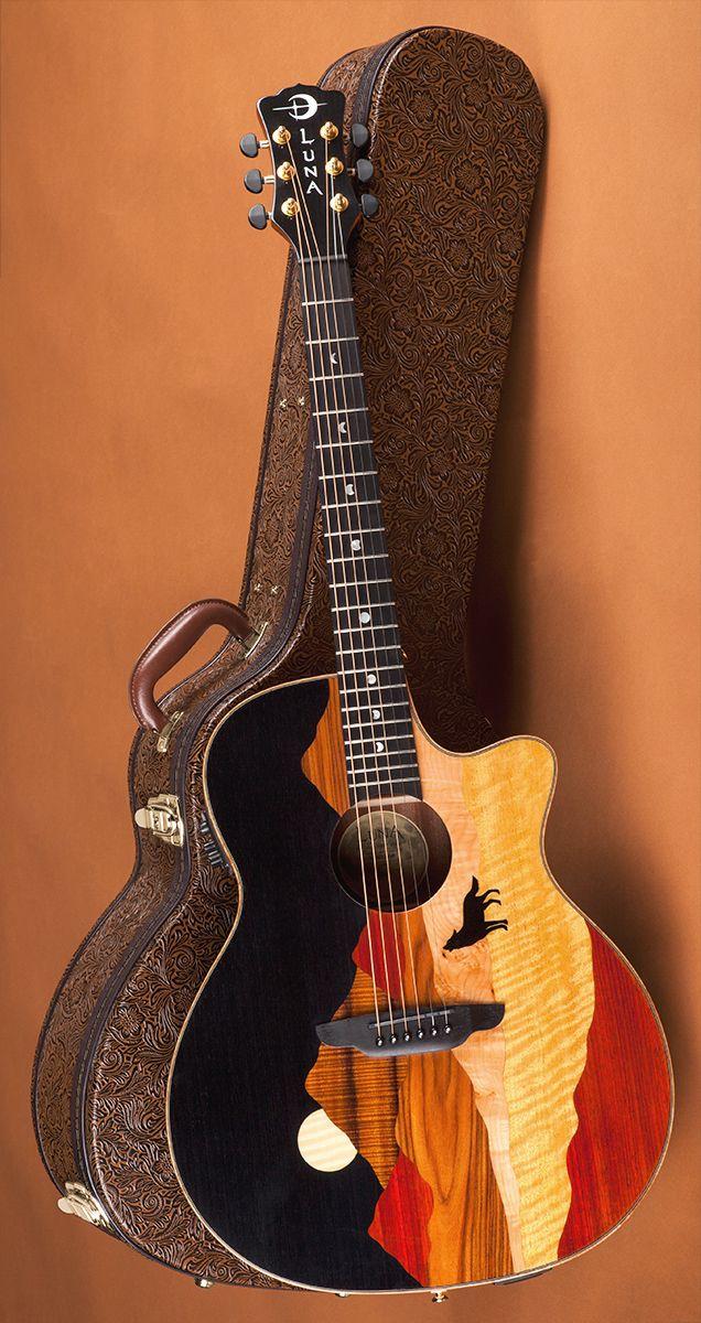 4c3e8406cc0 Vista Wolf with case | Vista Series | Luna guitars, Guitar, Acoustic ...