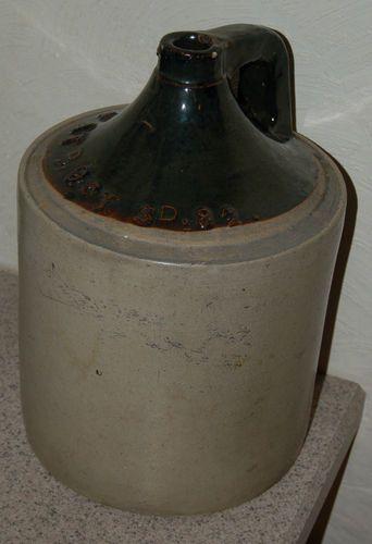 Vintage Large Stoneware Whiskey Jug