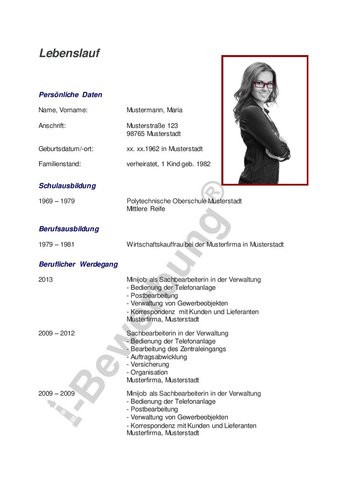 Ein Ratgeber für Ihre Karriereplanung | Lebenslauf Beispiel, i ...