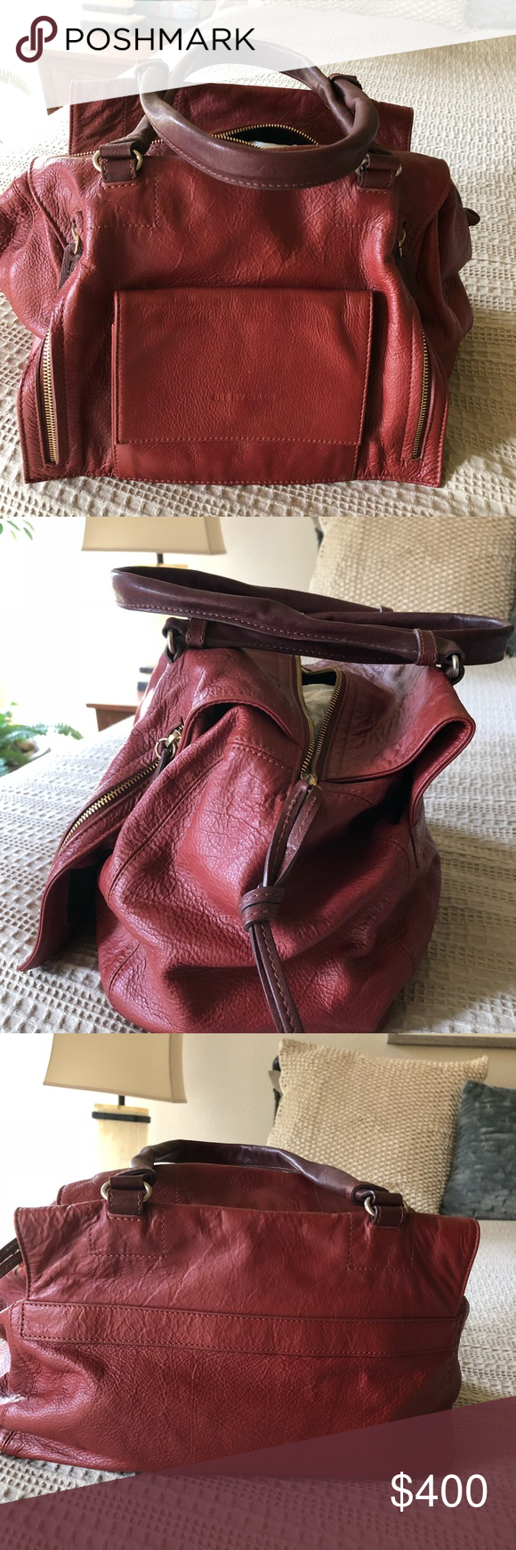 """See by Chloe handbag Gorgeous See by Chloe handbag. All leather, burned orange color with lots of compartments inside and outside. Never worn. 17.5""""x9""""x8"""" See By Chloe Bags Hobos #seebychloe"""