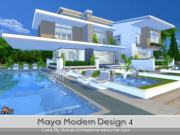 The Sims Resource Maya Modern Design 4 by Autaki Sims 4