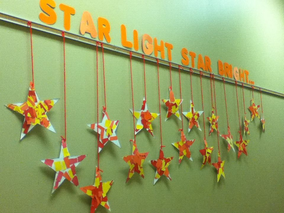 Craft For Start Light, Star Bright Nursery Rhyme. Give