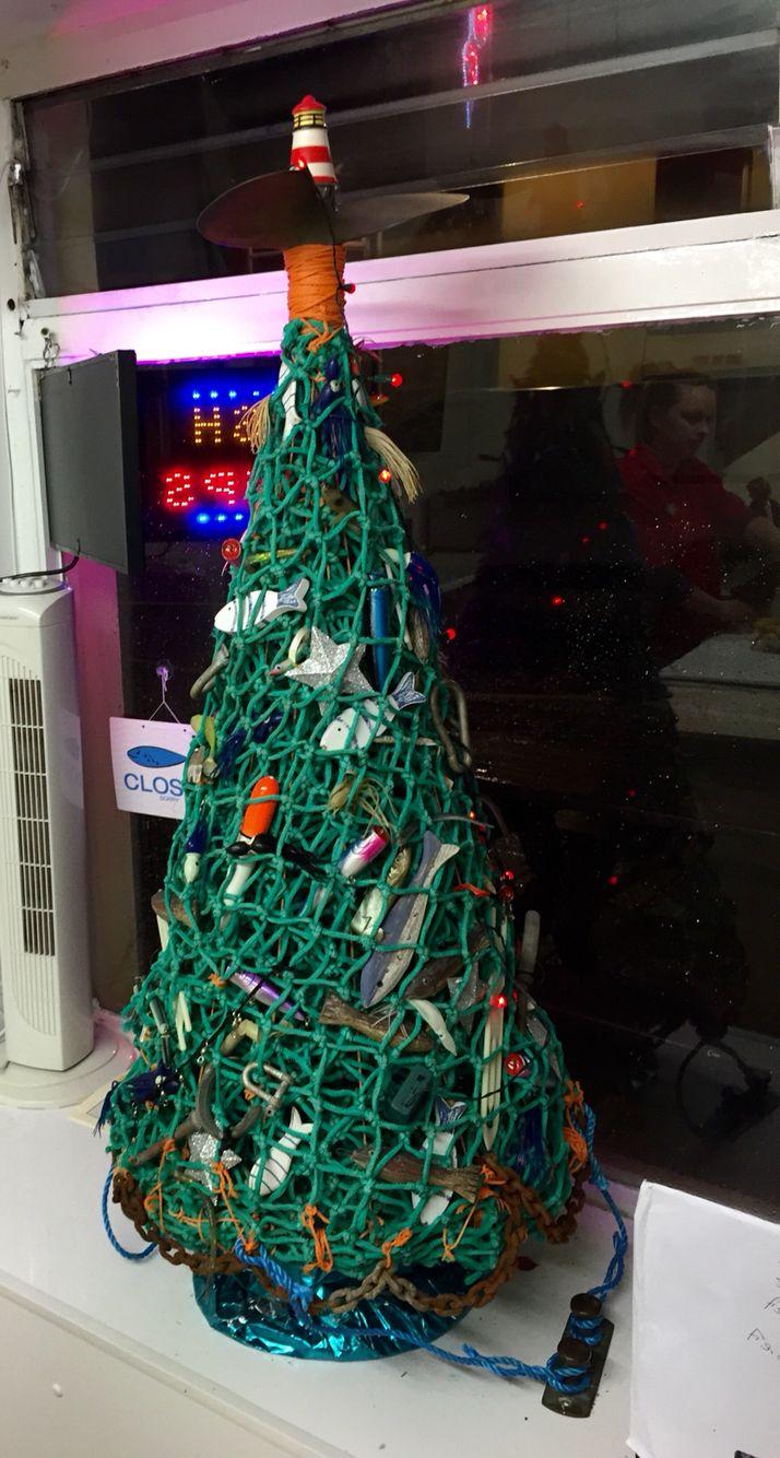 Christmas Tree Made From Fishing Net Christmas Ornaments Holiday Christmas Tree