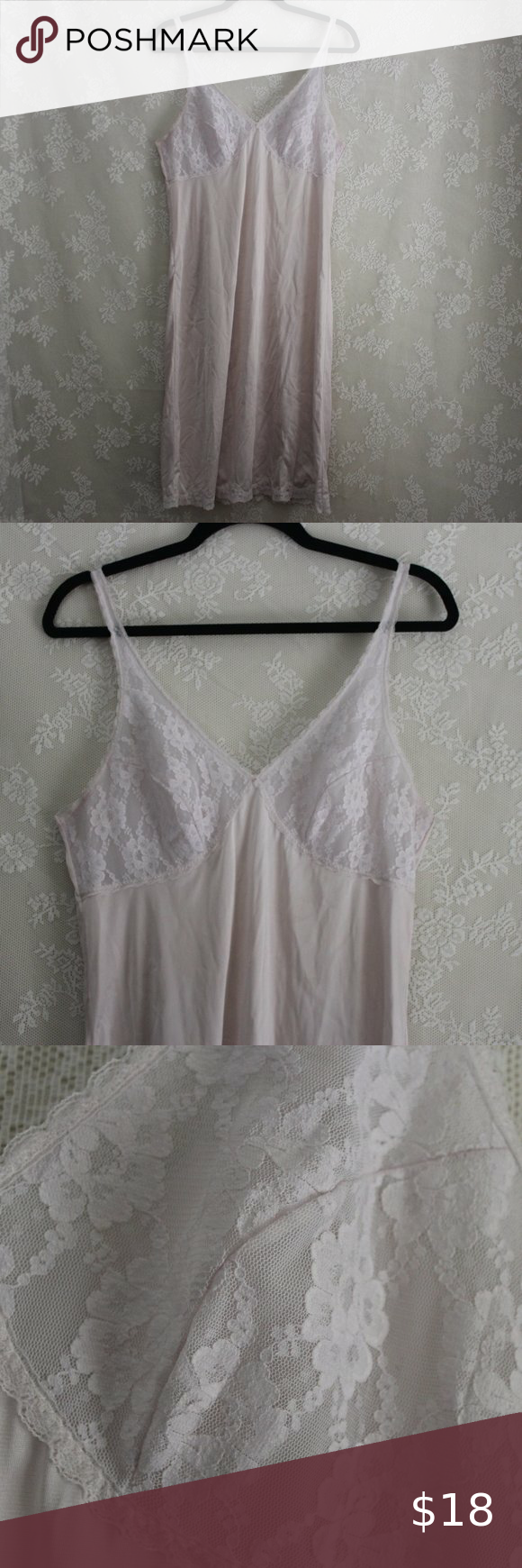 2 20 Sears Ivory White Lace Slip Dress S Lace Slip Dress Lace Slip White Slip Dress [ 1740 x 580 Pixel ]