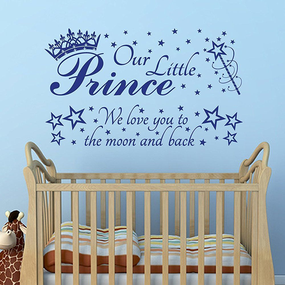 2 in 1 our little prince we love you to the moon and back quote 2 in 1 our little prince we love you to the moon and back quote quote wall artbaby
