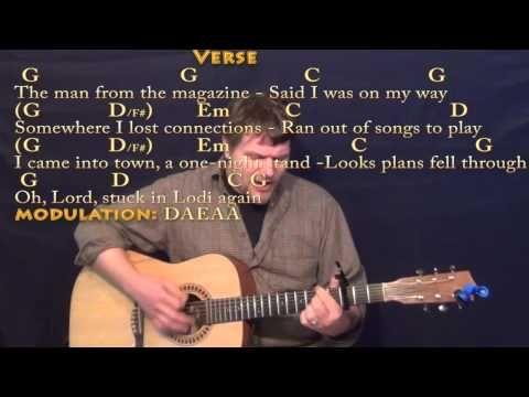 Lodi (CCR) Strum Guitar Cover Lesson with Chords/Lyrics Capo 3rd ...